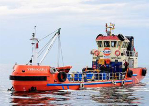 Gulf Oil Marine newest lube barge: Yenikapi 1