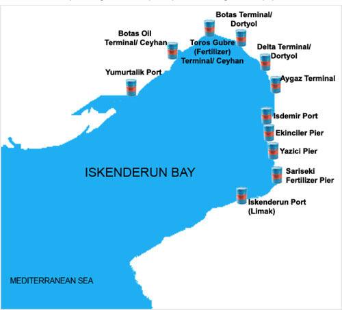Gulf Oil Marine coverage at Iskenderun Bay
